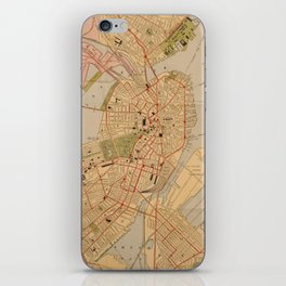 Vintage Map of Boston MA (1902) iPhone Skin