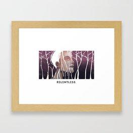 Relentless Rain Framed Art Print