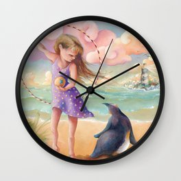 Z imagination Felicity and Fritz, Orphic Wanderers Wall Clock