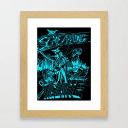 Screaming Vigilante Framed Art Print