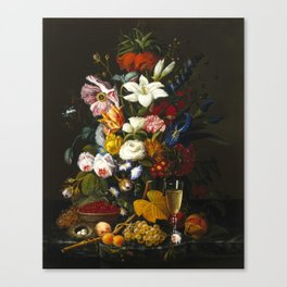 Severin Roesen - Victorian Bouquet Canvas Print