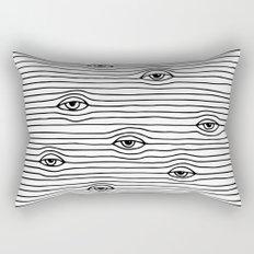 PEEPING TOM [BLK & WHT] Rectangular Pillow