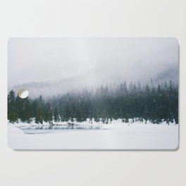 Evergreen Winter Forest (Color) Cutting Board