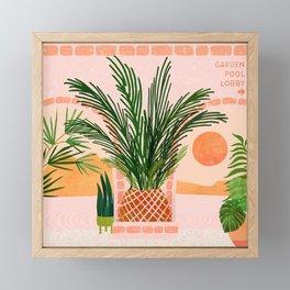 Mediterranean Vacation / Exotic Landscape Framed Mini Art Print