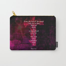 Psalm 61:2 Bible Verse Inspirational & Beautiful Christian Art Carry-All Pouch