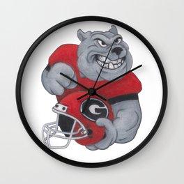 Go Dawgs Wall Clock