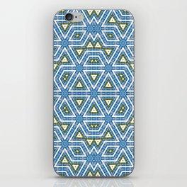 Sky and grass tribal kaleidoscope iPhone Skin