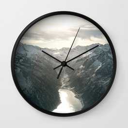 Mountain Panorama Wall Clock