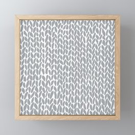 Hand Knit Zoom Grey Framed Mini Art Print