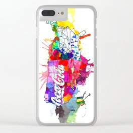 US Coke Map Clear iPhone Case