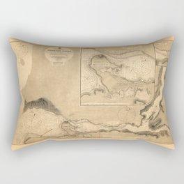 Map Of Burrard Inlet 1891 Rectangular Pillow