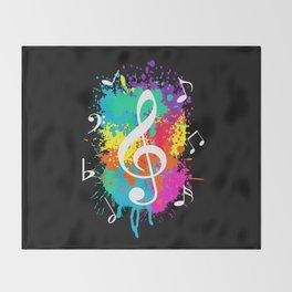 Music grunge Throw Blanket