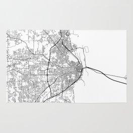 Minimal City Maps - Map Of Mobile, Alabama, United States Rug