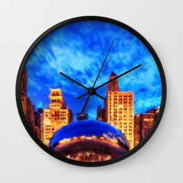 Chicago Panorama Wall Clock