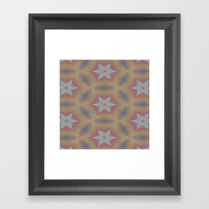 Ann Arbor chalk 6233 Framed Art Print