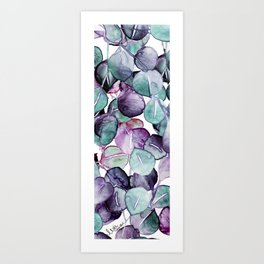mystic eucalyptus leaves Art Print
