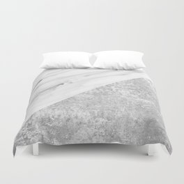 Grey / White Marble Duvet Cover