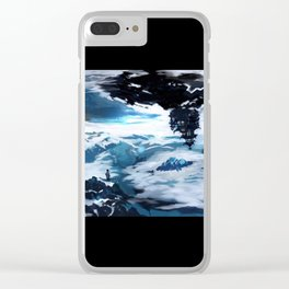 Concept Art Upside Down World Clear iPhone Case