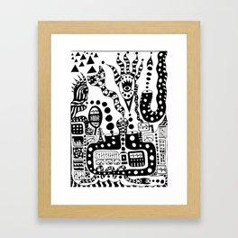wireless blender lost control Framed Art Print