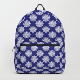 Floral Doily Pattern | Blue and White Backpack