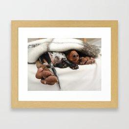 Smell Our Feet Framed Art Print