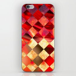 Pattern of diamonds in red and yellow nature colors iPhone Skin