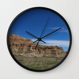 Badlands at High Noon Wall Clock