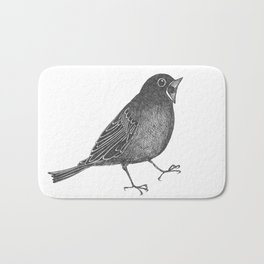 mr screamy the bird yells at the top of his lungs Bath Mat