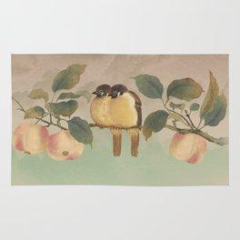 Golden Birds in Fruit Tree Rug