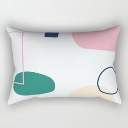 Going to be happy - on white backgroung Rectangular Pillow