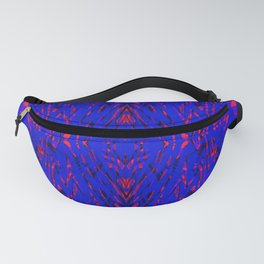 blue on red symmetry Fanny Pack