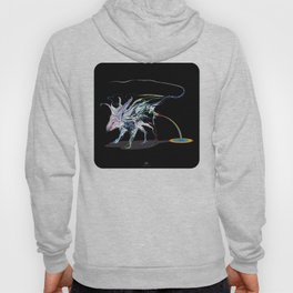 Rat and rainbow. multicolored on dark on background - (Red eyes series) Hoody