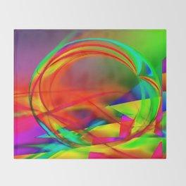 Hamster wheel of life Throw Blanket
