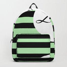 Vintage Love - Pastel green and black design Backpack