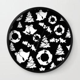 Gothic Xmas | Goth aesthetics | Merry Christmas | Bells | Trees Wall Clock
