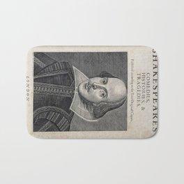 William Shakespeare Portrait Bath Mat