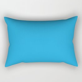 Oktoberfest Bavarian Blue Solid Color Rectangular Pillow