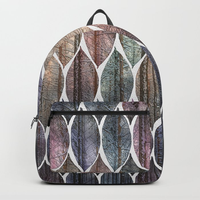 Metallic Leaf Pattern 2 Backpack