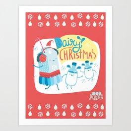 Dairy Christmas! Art Print