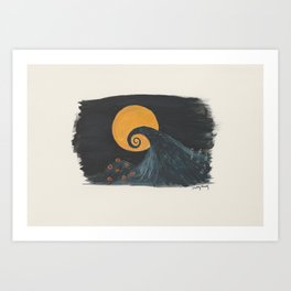 Nightmare Before Christmas Watercolor Art Print