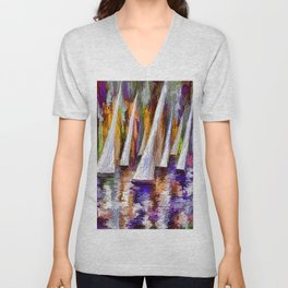 Sailboats Unisex V-Neck