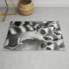 Funny Animals from Madagascar Rug
