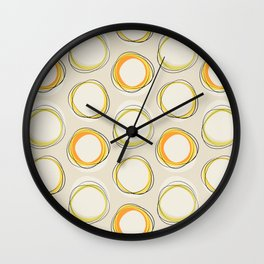 Solar Eclipse MCM Lines Wall Clock