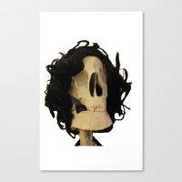 skeleton Canvas Prints featuring skeleton by Francesco Mestria