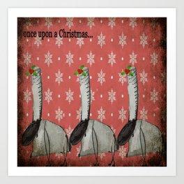 once upon a Christmas Art Print