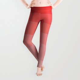 Red Strawberries and Cream Ombre Leggings