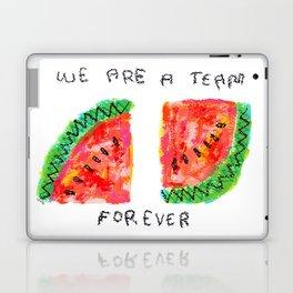 Team Forever Love Watermelon Fruits Painting Fruit Art Summer Laptop & iPad Skin