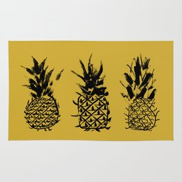 No two pineapples are alike Rug