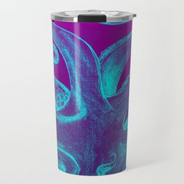 Teal & Purple Octopus Travel Mug