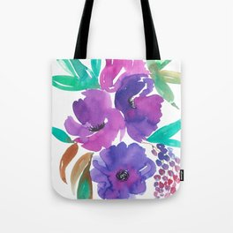 Purple Floral Divinity Tote Bag